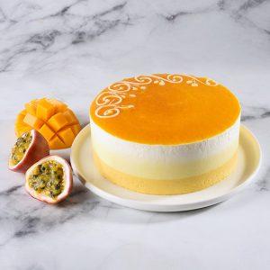 עוגת מוס פירות טרופיים